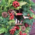 2009.12.02【注文したお花】 オーダーメイドギフト  【用途】クリスマスのリース(店舗用)