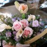 2011.03.29【注文したお花】シュガーピンクアレンジメント【用途】お礼ギフト