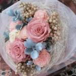2009.12.03【注文したお花】プリザーブドフラワーとペッパーベリーのネストのブーケ【用途】お祝いギフト