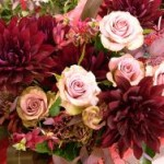 2011.05.11【注文したお花】バラ(イプノーズ)とダリアのアレンジ【用途】三回忌のお花