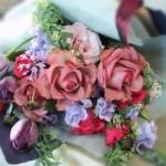 2009.08.01【注文したお花】バラとチューリップのブーケ【用途】ギフト